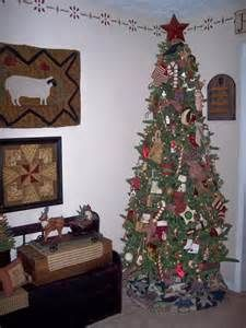 Primitive Christmas living room , I love to decorate my living room ...