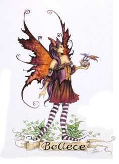Amy Brown Believe (Faery and Dragon)