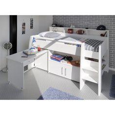 Lit Enfant Combiné 90x200 Blanc Megève TERRE DE NUIT   La Redoute Mobile f2dbfbf815bc