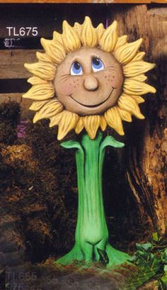 "Susie Sunflower 18"" ready to paint ceramic bisque. Hand poured, cleaned and fired. $20.00 visit my etsy store link below for more information."