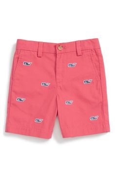 Vineyard Vines 'Whale' Embroidered Shorts (Toddler Boys & Little Boys)