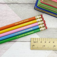 Book Lover Pencil Set