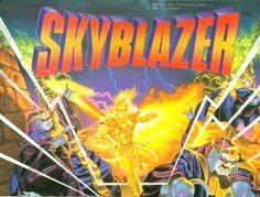 Skyblazer, super nintendo, snes, super nes, artwork