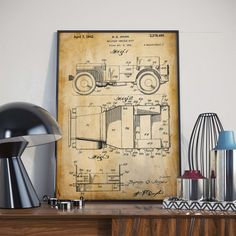 Willys Jeep Patent Print Gift for Soldier Army Art Poster