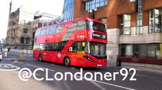 The Alexander Dennis City is a diesel-electric hybrid bus with bodywork feature design cues based on the Wrightbus New Routemaster. Transport Technology, New Routemaster, London Bus, Buses, Transportation, 21st, Articles, Peace, City