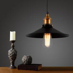 old bronze vintage bar pendant lamp edison retro lamp Black Shade Kitchen Island Light design pendant lamp rope pendant lighting