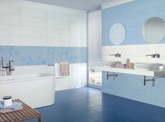 1000 images about id es salle de bain on pinterest atelier tile and toulon - Vasque bleue salle de bain ...