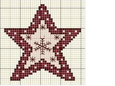 burgundy and cream star for card Xmas Cross Stitch, Cross Stitch Needles, Cross Stitch Cards, Cross Stitching, Cross Stitch Embroidery, Embroidery Patterns, Cross Stitch Designs, Cross Stitch Patterns, Cross Stitch Freebies