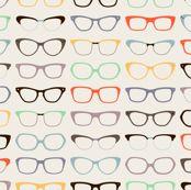 Geek Chic Glasses by zesti, Spoonflower digitally printed fabric