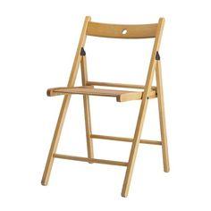 TERJE Klappstuhl IKEA Zusammenklappbar; leicht zu verstauen. Rückenlehne mit Aussparung für Platz sparendes Aufhängen, wenn nicht in Gebrauch.