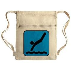 High Dive Diver Swimming Cinch Sack High Dive Diver Swimming  scooterbaby.com