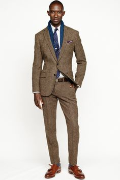 - Versace Men's Fall Winter 2013 J. Crew, Fall/Winter 2013 Rake Spring / Summer 2013 men's J. Sharp Dressed Man, Well Dressed Men, Moda Formal, Brown Suits, Tweed Suits, J Crew Men, Raining Men, Mens Fall, Gentleman Style