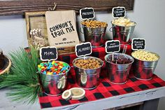 Make Your Own Trail Mix station at a Lumberjack Themed Birthday Party. Make Your Own Trail Mix station at a Lumberjack Themed Birthday Party. The post Make Your Own Trail Mix station at a Lumberjack Themed Birthday Party. appeared first on Birthday. Lumberjack Birthday Party, Wild One Birthday Party, Baby Boy 1st Birthday, 1st Boy Birthday, Boy Birthday Parties, Pirate Party, Birthday Food Ideas, 1st Birthdays, Camping Parties