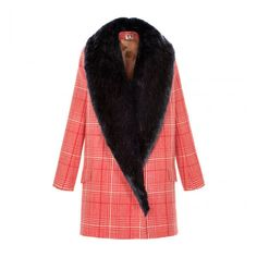 Rory Coat - Coats - Shop by Category - Shop ($1,040) ❤ liked on Polyvore featuring outerwear, coats, mid length coat, tartan coats, red plaid coats, plaid coat and red tartan coat