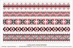 Semne Cusute: Romanian traditional motifs - MOLDOVA - Botosani, ... Folk Embroidery, Embroidery Patterns, Stitch Patterns, Knitting Patterns, Point Lace, Moldova, Hama Beads, Beading Patterns, Pixel Art