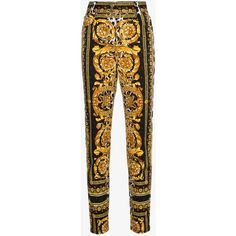 Versace High Waist Patterned Skinny Jeans ($1,650) ❤ liked on Polyvore featuring jeans, white high-waisted jeans, zipper skinny jeans, white denim skinny jeans, high rise jeans and patch jeans