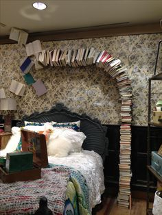 """""""Anthropologie ! Love the books!!!!!! I would love to do this over ugly pipes!!! I'm a genius I tell you!"""""""