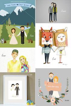 Custom Wedding Illustrations