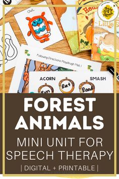 This forest animals themed mini unit has all the squirrels, hedgehogs, and bears for your fall fun! It's filled with several printable and digital speech therapy materials that I do with my students for every theme!