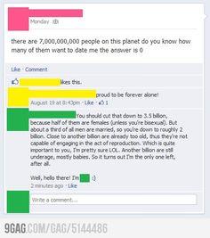 Facebook Pickup Line