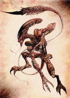 Yep, it's another Alien, in full on ACTION pose! Dig it dudes!
