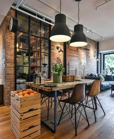 29 Awesome Industrial Style Decor Designs That You Can Create For Your Urban Living Space Apartment Industrial Design No. 29 Awesome Industrial Style Decor Designs That You Can Create For Your Urban Living Space Apartment Industrial Design No. Loft Industrial, Industrial Interior Design, Vintage Industrial Decor, Industrial Interiors, Interior Design Kitchen, Industrial Bedroom, Kitchen Industrial, Vintage Decor, Industrial Apartment
