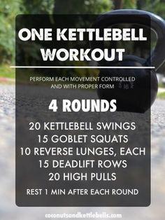 One Kettlebell Workout - Coconuts & Kettlebells Workout