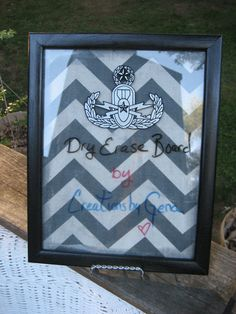 Framed glass Dry Erase Memo Board with Master by CreationsbyGena, $24.00