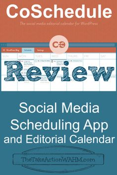 Review: CoSchedule Social Media Scheduling App and Editorial Calendar #blogging #socialmedia #blogtips http://thetakeactionwahm.com/review-coschedule-social-media-scheduling-app-and-editorial-calendar/?utm_campaign=coschedule&utm_source=pinterest&utm_medium=Kelly%20The%20Take%20Action%20WAHM%20(The%20Take%20Action%20WAHM)&utm_content=Review%3A%20CoSchedule%20Social%20Media%20Scheduling%20App%20and%20Editorial%20Calendar