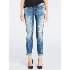 Blank NYC Fit Of Rage Boyfriend Jean ($98) ❤ liked on Polyvore featuring jeans, distressed denim, low-rise boyfriend jeans, 5 pocket jeans, blanknyc jeans, relaxed fit jeans and boyfriend fit jeans