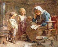 John Henry Henshall - The Dame's School (71,0 x 58,0 cm)