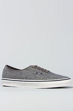 Vans Footwear The Authentic Sneaker in Pewter True White : Karmaloop.com - Global Concrete Culture