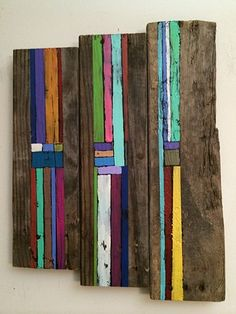 contemporary Abstract Art, rustic, reclaimed wood, 3D, sculpture, mid century modern, jackson pollack, sunset, Ocean, modern, blue, orange, green, copper, turquoise, yellow, orange, contemporary art, abstract, san diego, san diego artist, affordable art,  Alicia Dunn