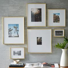 Gallery Frames - Polished Brass | west elm