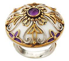 Echo of the Dreamer Monaco - Gemstone ring, Sterling/Bronze