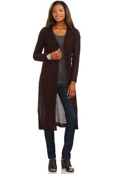 bebe09eeefbab Cato Fashions Marled Pointelle Duster Cardigan-Plus  CatoFashions Cardigan  Sweaters For Women