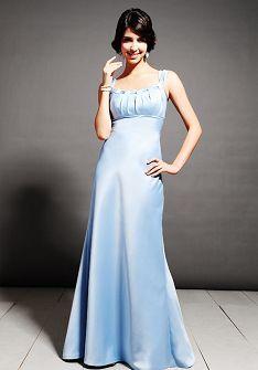 A-Line Scoop Floor Length European Matte Satin Bridemaid Dress Style BD81720