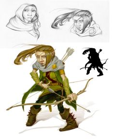 Forest gnome ranger (from the 5e Dungeons & Dragons Player's Handbook). Art by Rob Rey.