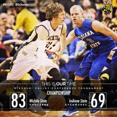 Wichita Indiana Shockers are 2014 Missouri Valley Conference Tournament Champions. Basketball Shorts Girls, Basketball Games For Kids, Adidas Basketball Shoes, Basketball Goals, Basketball Uniforms, Wichita State, Indiana State, Ron Baker, Wsu Shockers