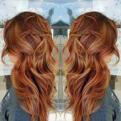 Balayage Hair Red And Blonde