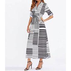 Nouvelle robe chemisier noir et blanc ! Profitez de -20% valable sur tout le site pour la fête de lAid avec le code : ramadan2018 !
