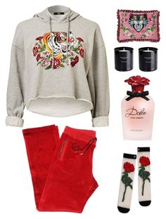 """movie night"" by im-karla-with-a-k ❤ liked on Polyvore featuring Versace, Dolce&Gabbana and Gucci"
