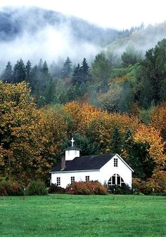 The little church in the country ,Dads parents were Sunday school teachers. My grandmother play the piano a lot of times.........
