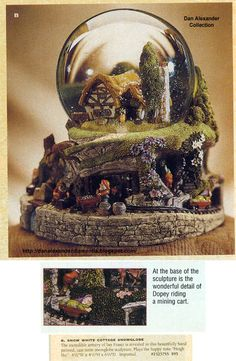 I love Disney snow globes!!!