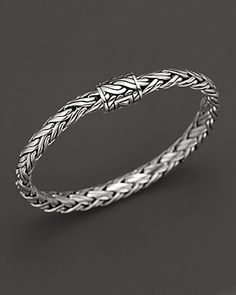 Simple and elegant, John Hardy jewelry.  I have this bracelet and wear it often.