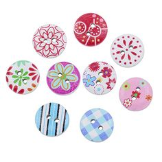 100 pcs/Set Colorful Wooden Buttons //Price: $8.99 & FREE Shipping //     #wood #handmade #design