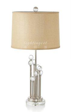 Modern lamp【最灯饰】现代奢华欧式水晶球设计师样板房台灯