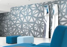 Phaze: Carta da parati Graphic // Graphic Wall Covering | by Glamora