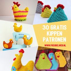 Crochet Animals, Crochet Hats, Easter Crochet, Easy Knitting, Dinosaur Stuffed Animal, Crochet Patterns, Birds, Blog, Toys