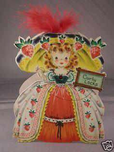 Vintage Hallmark Land of Make Believe Doll Card - Curly Locks - Excellent Vintage Paper Dolls, Vintage Children's Books, Vintage Crafts, Vintage Ephemera, Antique Dolls, Vintage Birthday Cards, Vintage Valentine Cards, Hallmark Greeting Cards, Vintage Greeting Cards